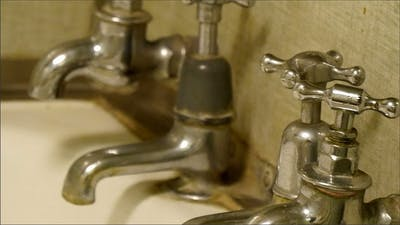 Silver Faucets on the Tub