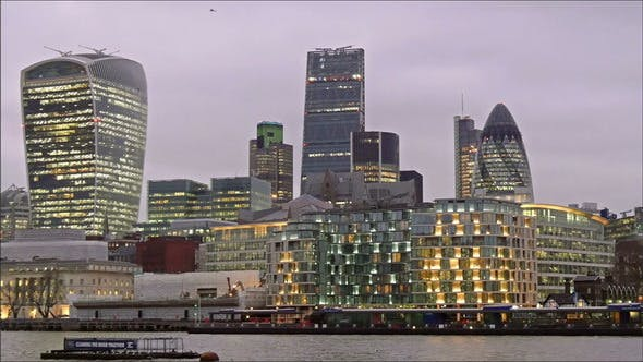 Thumbnail for The Beautiful London City in a Late Afternoon
