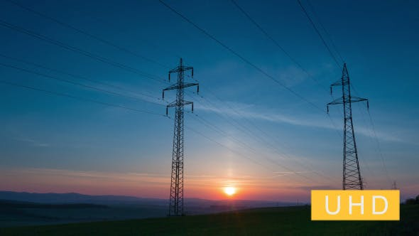 Thumbnail for Power Line and Sunrise