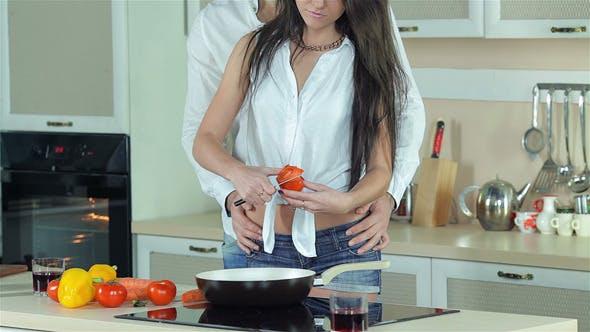 Thumbnail for Beautiful Girl Doing Cutting Tomatoes