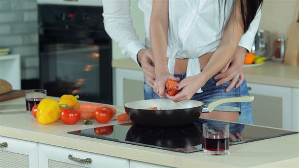 Thumbnail for Newly Married Couple Are Preparing Dinner