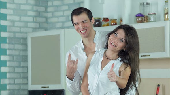 Thumbnail for Newly Married Couple Are Show Thumbs Up