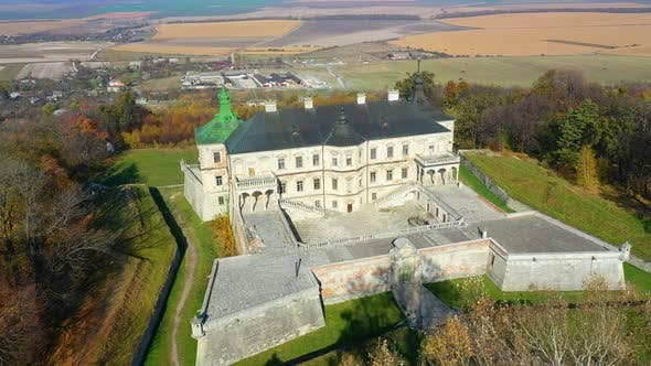 Thumbnail for Aerial View of Haunted Castle of Pidhirtsi, Ukraine