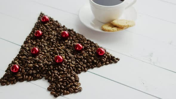 Thumbnail for Coffee Beans in Shape of Conifer and Cup