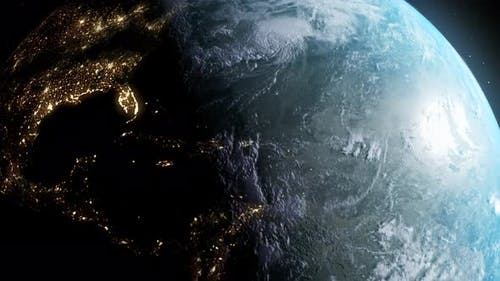 realistic earth turn