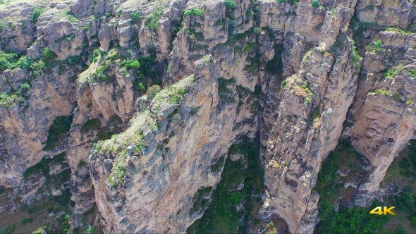 Thumbnail for Aerial Flying High Cliff Rocky Canyon 6