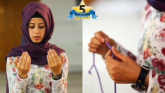 Thumbnail for Use the Masbahah and Dua - Muslim Girl In Mosque