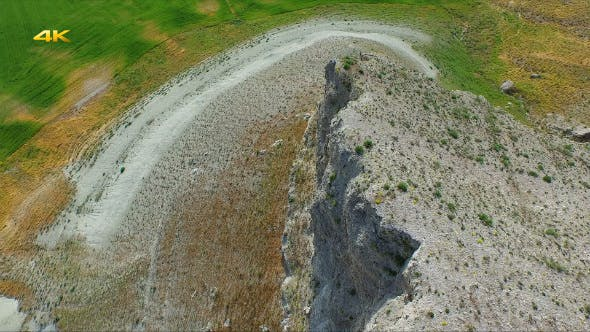 Thumbnail for Aerial Flying Eroded Mountains and Slopes 2