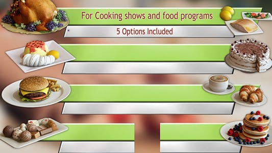 Thumbnail for Cooking TV Lower Third Pack (5)