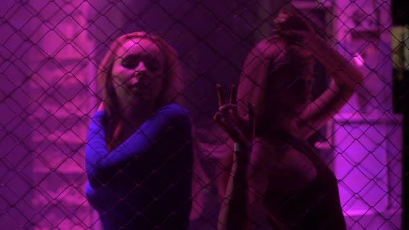 Thumbnail for Pretty Female Go-Go Dancers Moving to Music in Trance at Nightclub, Illumination