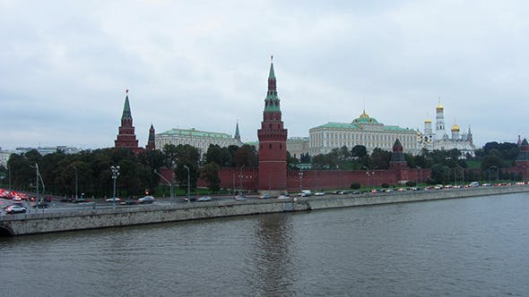 Thumbnail for Moscow Kremlin And Ships On River