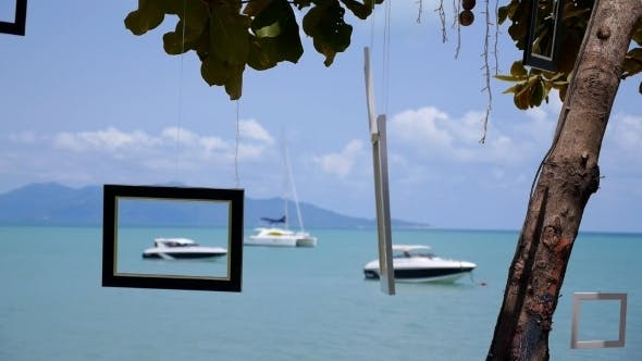 Thumbnail for Yachts Anchored Along The Shore In The Sea
