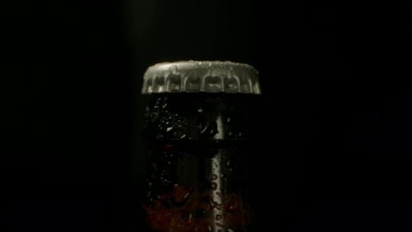 Sealed Bottle of Cold Beer