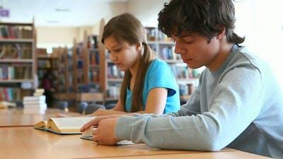 Teens at library