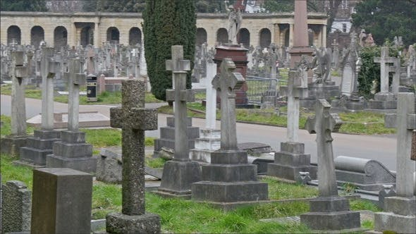 The View of the Cemetery with All the Gravestones