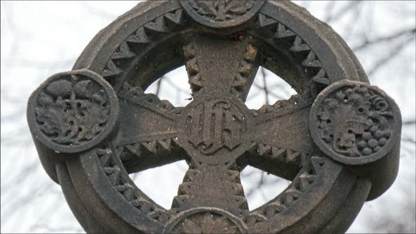 Thumbnail for Circle with Cross Tombstone in the Cemetery