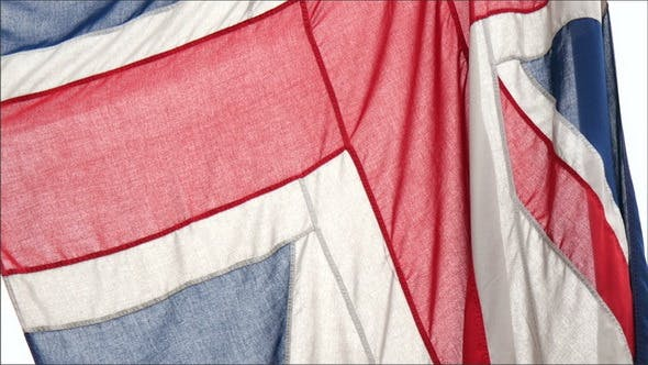 Details of the Red Blue and White Flag of England
