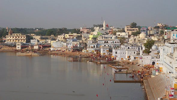 Thumbnail for Ritual Bathing In Holy Lake - Pushkar India