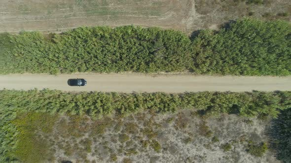 Thumbnail for Drone Following Cars Driving at Countryside Road with Trees on the Side in Lemnos, Greece