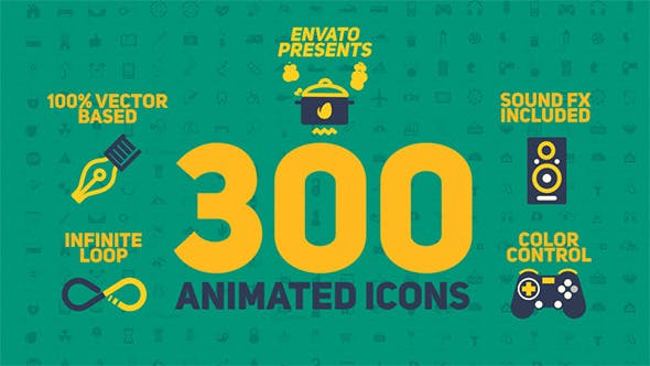 Thumbnail for Animated Icons Pack