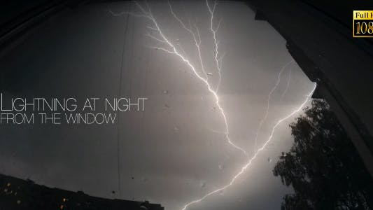 Cover Image for Lightning At Night From The Window