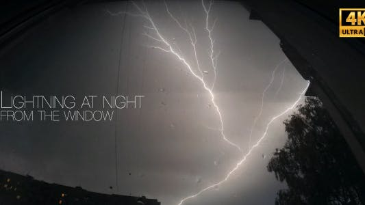Thumbnail for Lightning At Night From The Window