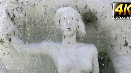 Thumbnail for Waterfall and Ancient Marble Stone Woman Statue
