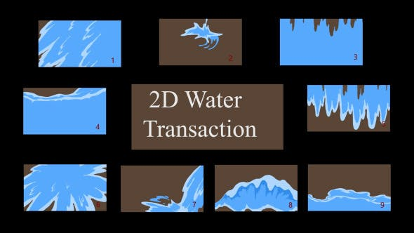 Thumbnail for 9 Flash Water Transition Pack