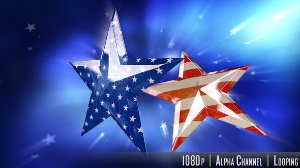 Thumbnail for Old Faded USA American Flag in Stars