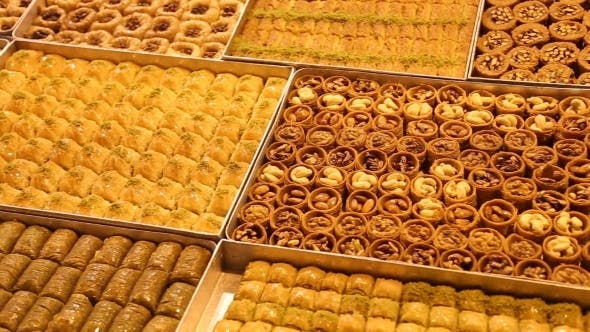 Thumbnail for Delicious Turkish Baklava In Istanbul