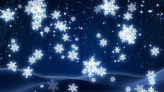 Thumbnail for Winter snowflakes loop