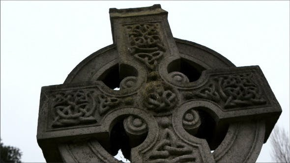 Thumbnail for Black Mossy Tombstone in the Cemetery