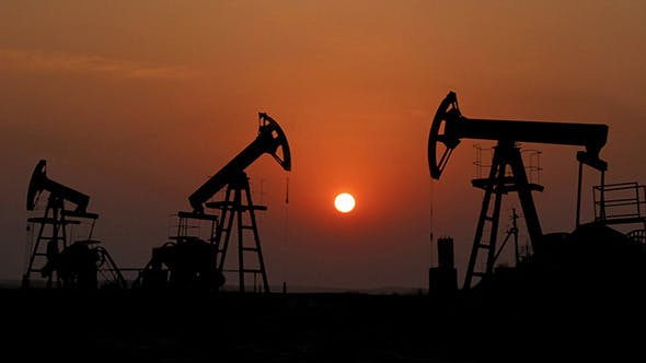 Thumbnail for Working Oil Pumps Silhouette