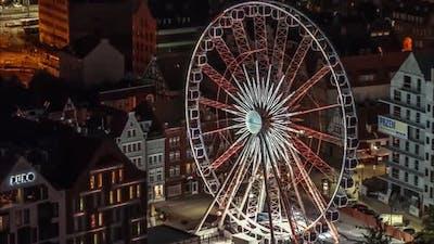 Ferris Wheel Aerial, Ferris Wheel On The Hill