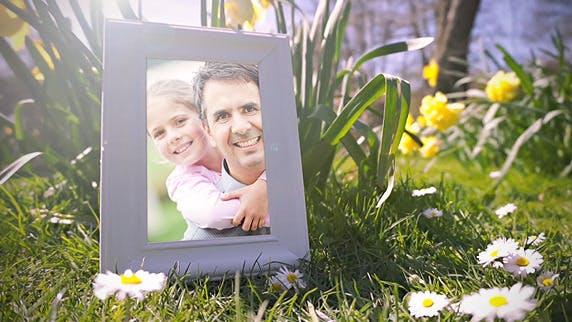 Thumbnail for Fröhliche Frühlingszeit Galerie mit Blumen und Enten