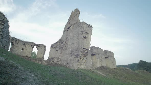 Bucach Castle ruins in Ternopil