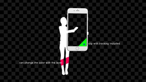 Thumbnail for Silhouette Woman Hold And Touch Screen Smartphone