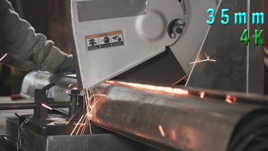 Thumbnail for Metal Cutting Saw Working Process 01