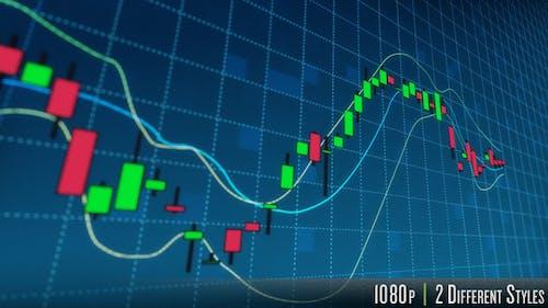 Stock Market Candlestick Data Graph