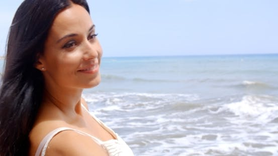 Thumbnail for Attractive Lady At The Beach On a Tropical Climate