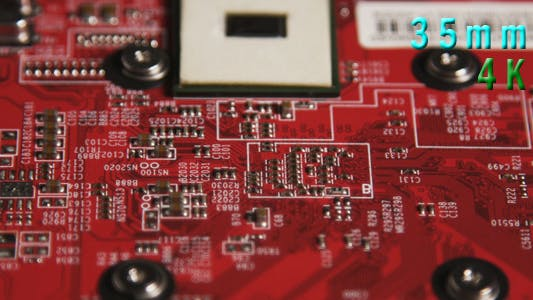 Thumbnail for Red Computer Circuit Board 03