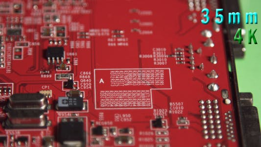 Cover Image for Red Computer Circuit Board 04