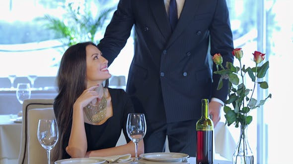 Thumbnail for Young Loving Couple Visits A Restaurant