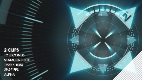 HUD Circular Elements - 2 Clips