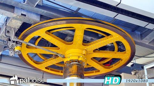 Pulley Wheel Mechanism Rolling