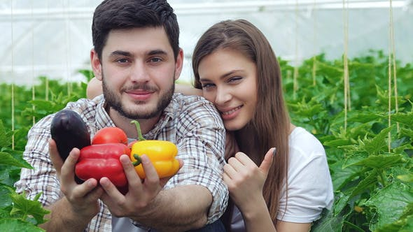 Thumbnail for Guy Shows Healthy Vegetables The Girl Thumbs Up