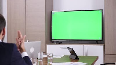 Talking To A Green Screen TV