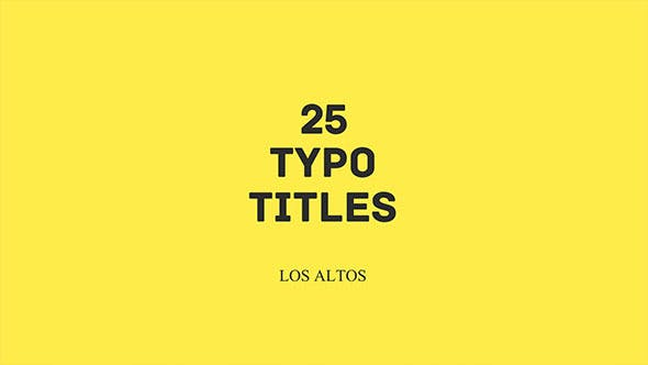 Thumbnail for Los Altos l 25 Colorful Animated Typo
