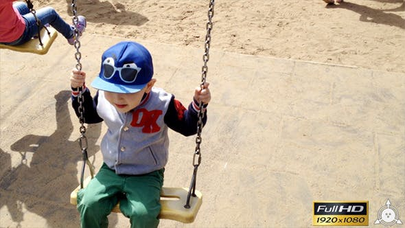 Thumbnail for Cute Little Baby on a Swing