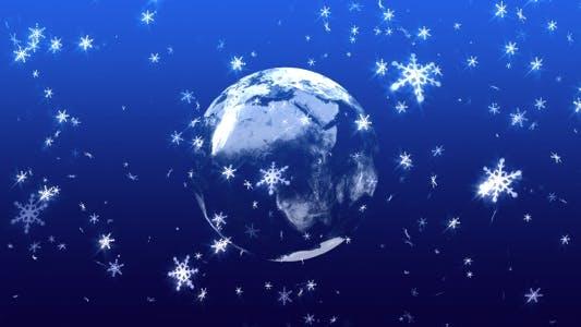Thumbnail for Global Snowing - HD Loop